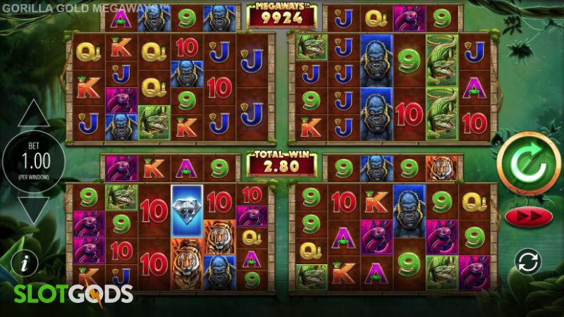 Gorilla Gold Megaways Online Slot by Blueprint Gaming Screenshot 1