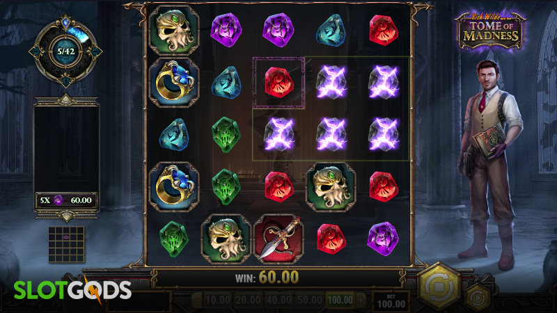 Rich Wild and the Tome of Madness Online Slot by Play n GO Screenshot 1