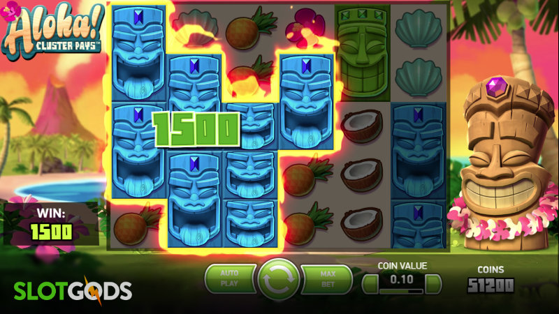 Aloha Cluster Pays Online Slot by NetEnt Screenshot 1
