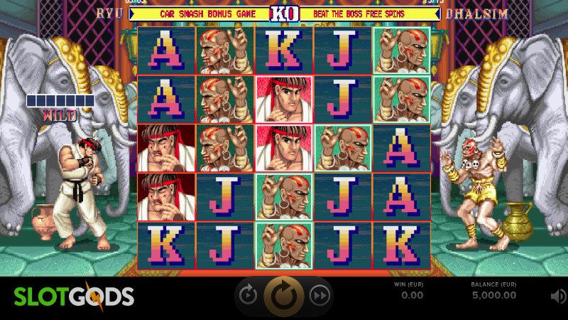Street Fighter 2 The World Warrior Slot Online Slot By NetEnt Screenshot 1