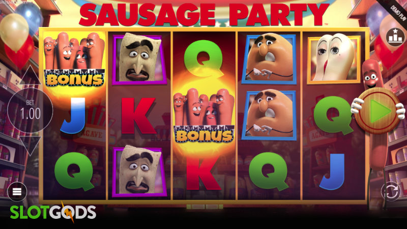 Sausage Party Online Slot By Blueprint Gaming Screenshot 1