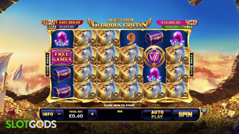 Age Of The Gods Glorious Griffin Online Slot By Playtech Screenshot 1