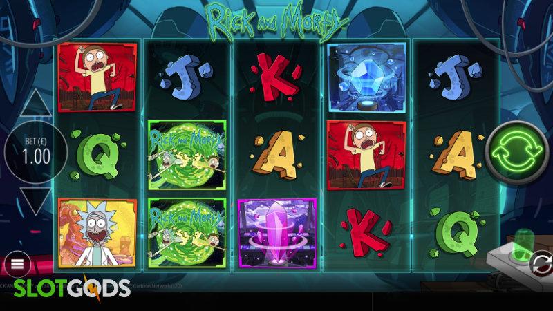 Rick And Morty Wubba Lubba Dub Dub Online Slot By Blueprint Gaming Screenshot 1