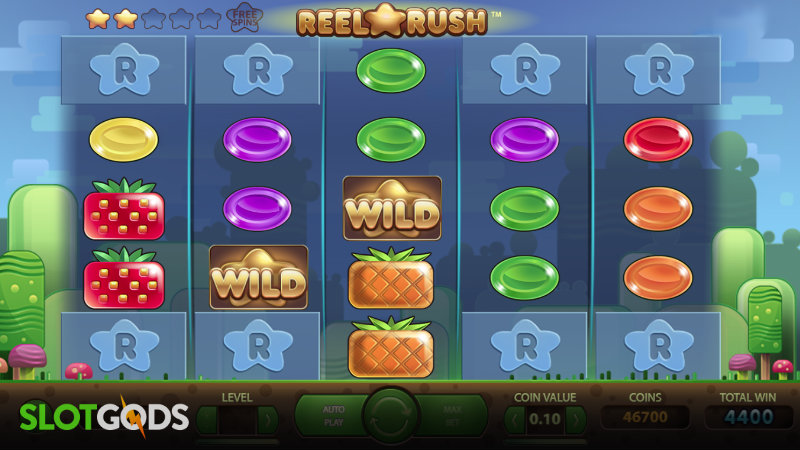 Reel Rush Online Slot By NetEnt Screenshot 1