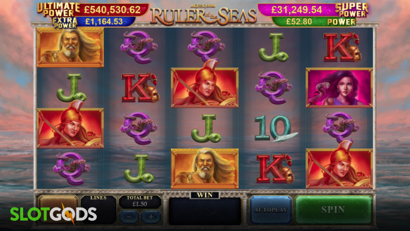 Age Of The Gods Ruler Seas Online Slot By Playtech Screenshot 1