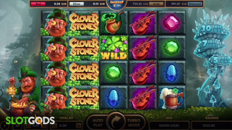 Clover Stones Online Slot By Netgame Screenshot 1