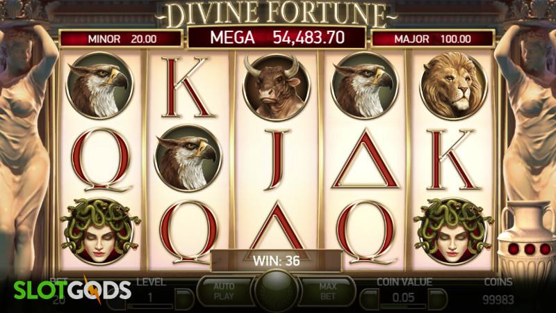 Divine Fortune Online Slot by NetEnt Screenshot 1