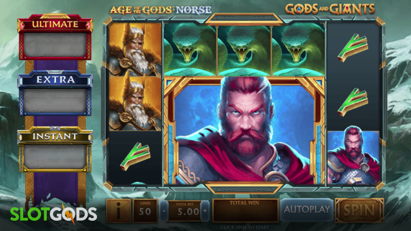 Age of the Gods Norse Gods and Giants Online Slot by Playtech Origins Screenshot 1