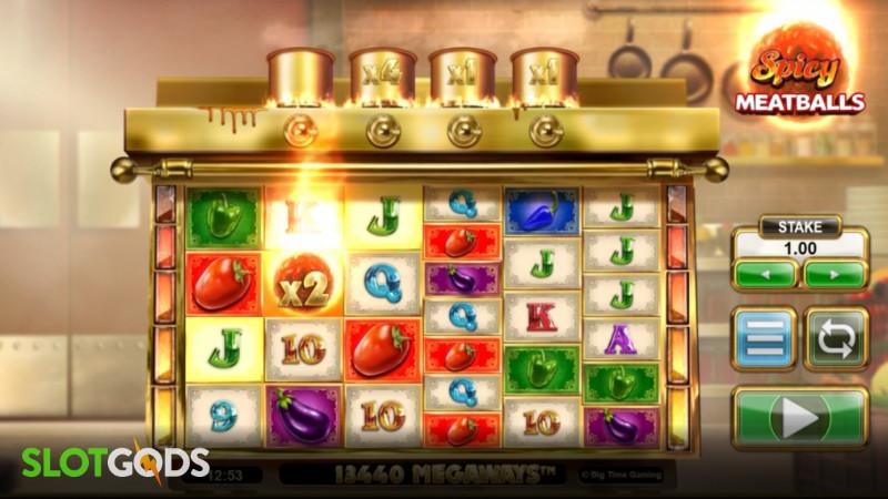 Spicy Meatballs Megaways Online Slot by Big Time Gaming Screenshot 1
