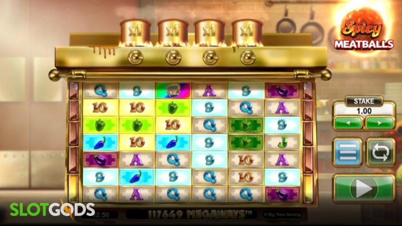 Spicy Meatballs Megaways Online Slot by Big Time Gaming Screenshot 2