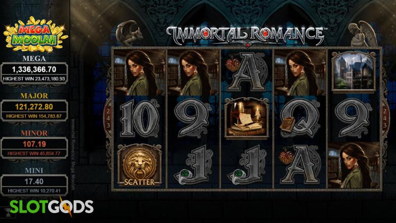 Immortal Romance Mega Moolah Online Slot by Microgaming Screenshot 1