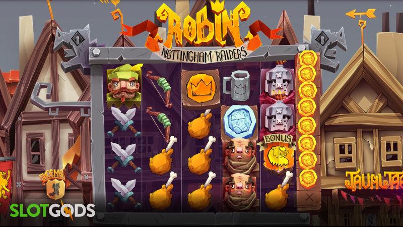 Robin Nottingham Raiders Online Slot by Peter & Sons Screenshot 1