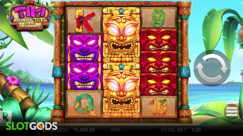Tiki Infinity Reels Megaways Online Slot by Yggdrasil Screenshot 1