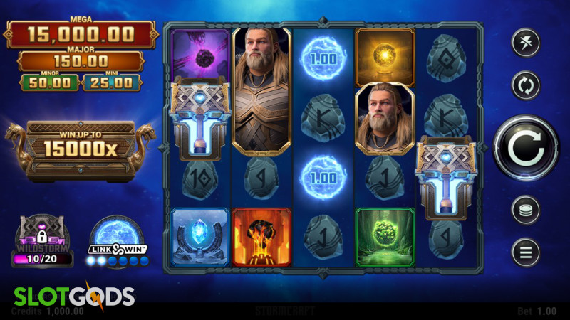 Thunderstruck Wild Lightning Online Slot by Stormcraft Studios Screenshot 1