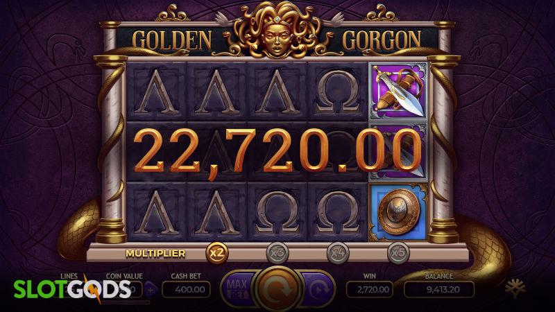 Golden Gorgon Online Slot by Yggdrasil Screenshot 2