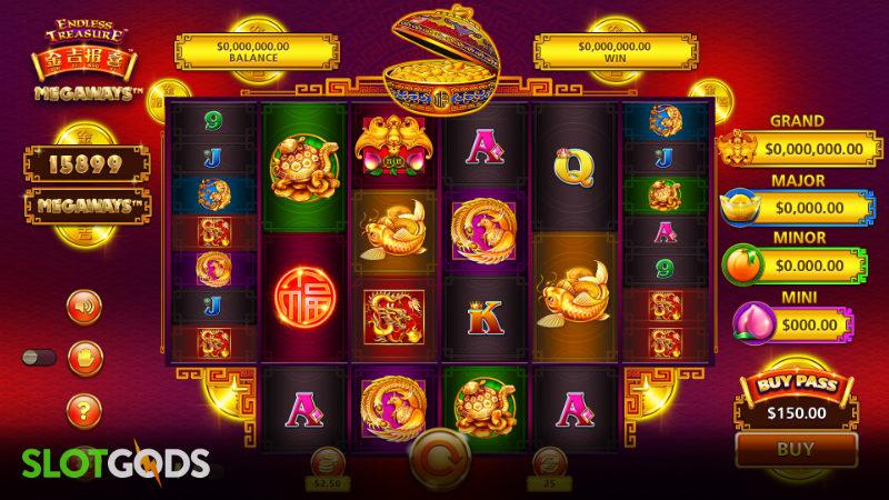 Jin Ji Bao Xi Endless Treasure Megaways Online Slot by SG Digital Screenshot 1