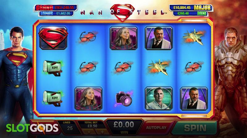 Man of Steel Online Slot by Playtech Screenshot 1