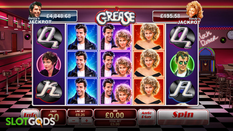 Grease Online Slot by Playtech Screenshot 1