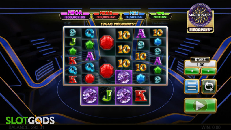 Who Wants to be a Millionaire Megapays Online Slot by Big Time Gaming Screenshot 1