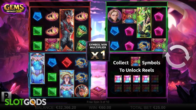 Gems Infinity Reels Online Slot by Reel Play Screenshot 1