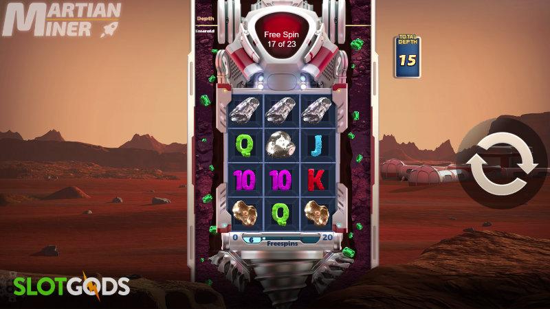 Martian Miner Infinity Reels Online Slot by Reel Play Screenshot 1
