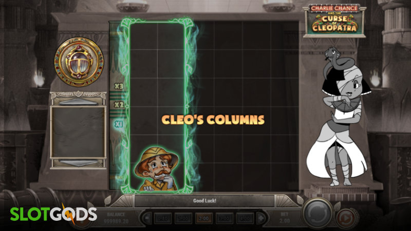 Charlie Chance and The Curse of Cleopatra Online Slot by Playn Go Screenshot 1