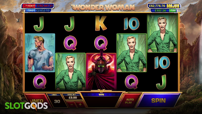 Wonder Woman Online Slot by Playtech Screenshot 1