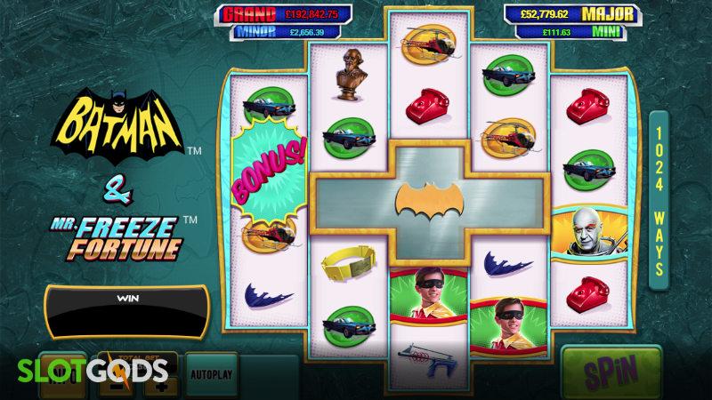 Batman & Mr Freeze Fortune Online Slot by Playtech Screenshot 1
