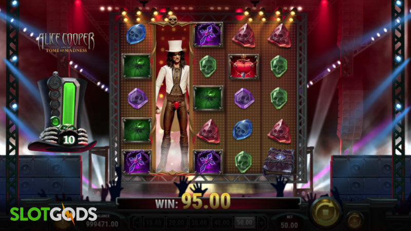 Alice Cooper and the Tome of Madness Online Slot by Playn Go Screenshot 2