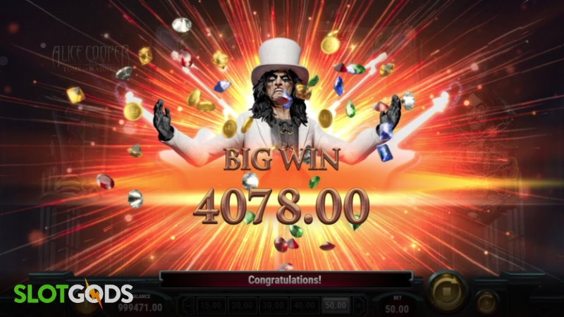 Alice Cooper and the Tome of Madness Online Slot by Playn Go Screenshot 4