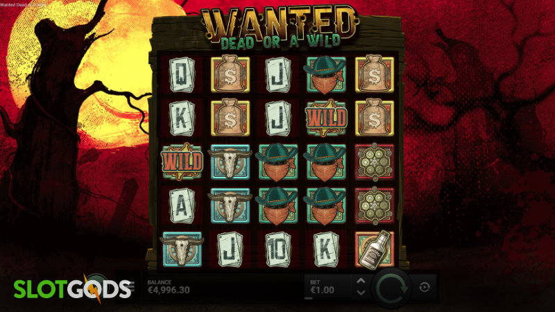Wanted Dead or a Wild Slot - Screenshot 1