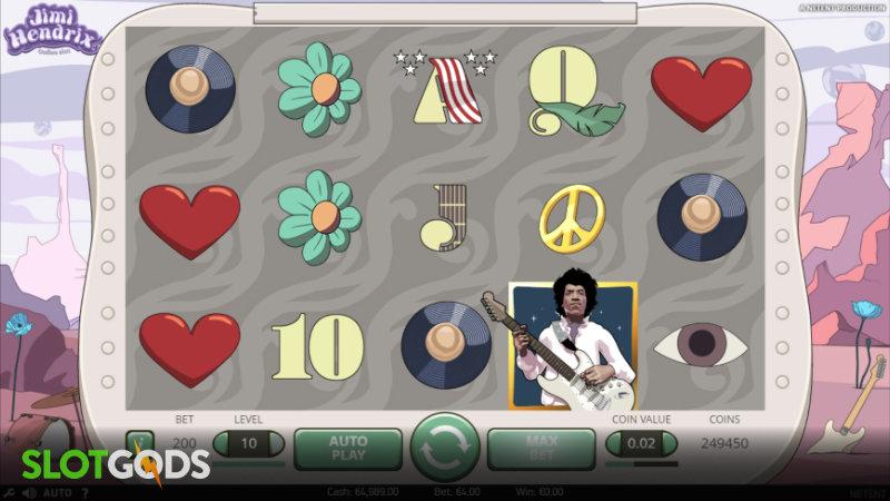 Jimi Hendrix Online Slot by NetEnt