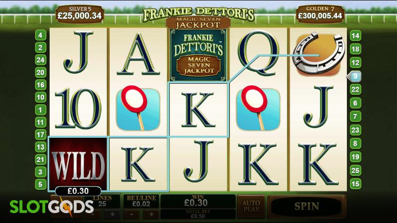 Frankie Dettori's Magic Seven Jackpot Online Slot by Playtech